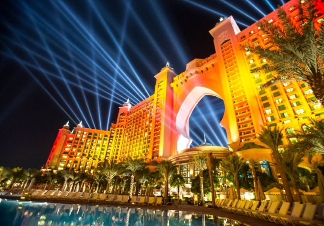 Akcia Aquaventure After Dark v hoteli Atlantis The Palm