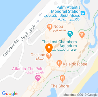 Ossiano, Atlantis The Palm Map